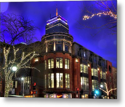 Newbury Street And The Prudential - Back Bay - Boston Metal Print