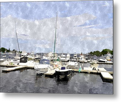 Newburyport Harbor Nhwc Metal Print