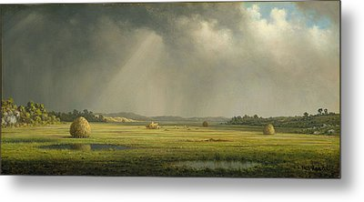 Newburyport Meadows Metal Print by Martin Heade