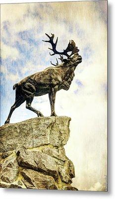Newfoundland Caribou At Beaumont-hamel - Vintage Version Metal Print by Weston Westmoreland