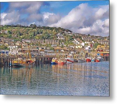 Newlyn Harbour Cornwall 2 Metal Print
