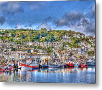 Newlyn Harbour Cornwall Metal Print by Chris Thaxter