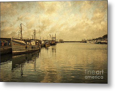 Newlyn Trawlers  Metal Print by Rob Hawkins