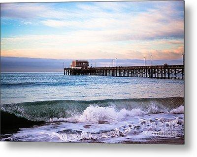 Newport Beach Ca Pier At Sunrise Metal Print