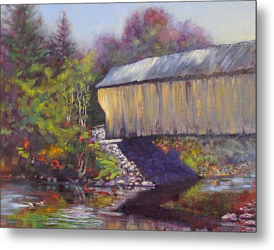 Newport Covered Bridge Metal Print