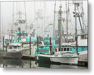 Newport, Oregon Fishing Fleet Metal Print by Jerry Fornarotto