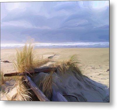 Newport Oregon Summer Beach Metal Print