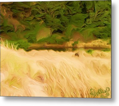 Metal Print featuring the painting Newport Oregon Tidal Pool by Shelley Bain