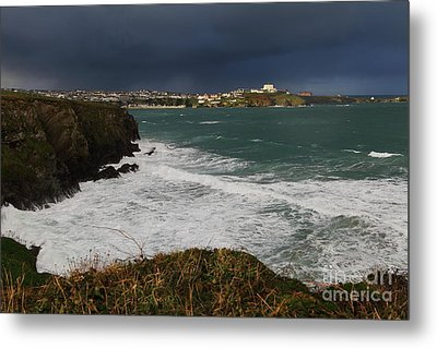 Metal Print featuring the photograph Newquay Squalls On Horizon by Nicholas Burningham