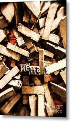 News In Press Typeset Metal Print by Jorgo Photography - Wall Art Gallery