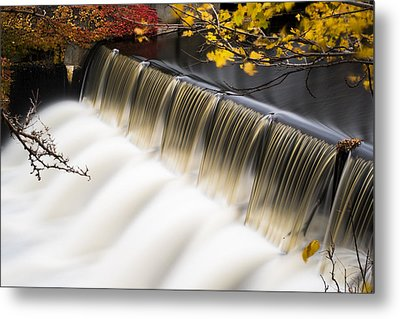 Newton Upper Falls Autumn Waterfall Metal Print by Toby McGuire