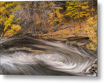 Newton Upper Falls Dual Whirlpool Newton Ma Metal Print by Toby McGuire