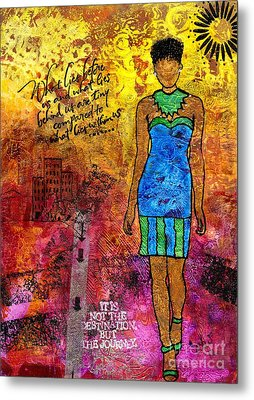 Next Steps Metal Print by Angela L Walker