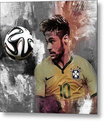 Neymar 051a Metal Print by Gull G