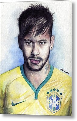 Neymar Metal Print by Alban Dizdari