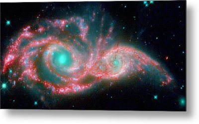 Ngc 2207 And Ic 2163 In The Canis Major Constellation Metal Print by American School