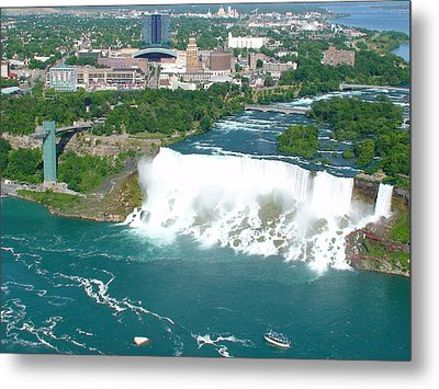 Metal Print featuring the photograph Niagara American And Bridal Veil Falls  by Charles Kraus