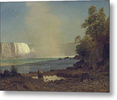 Niagara Falls Metal Print by Albert Bierstadt