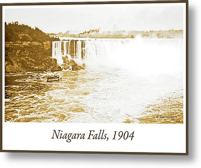 Metal Print featuring the photograph Niagara Falls Ferry Boat 1904 Vintage Photograph by A Gurmankin