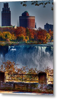 Metal Print featuring the photograph Niagara Falls From Ontario by Don Nieman