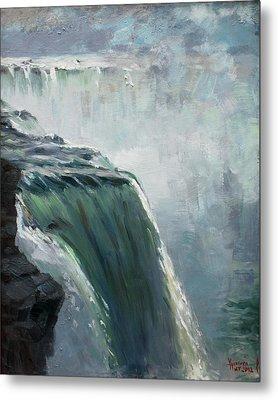 Niagara Falls Ny Metal Print by Ylli Haruni