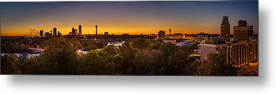 Metal Print featuring the photograph Niagara Falls Twilight From The 9th Floor by Chris Bordeleau