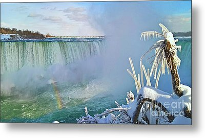 Metal Print featuring the photograph Niagara Falls Winter Landscape by Charline Xia