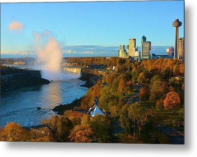 Niagara Horseshoe Falls Autumn Metal Print