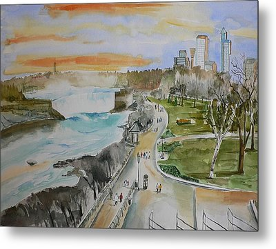 Metal Print featuring the painting Niagara In Spring by Geeta Biswas
