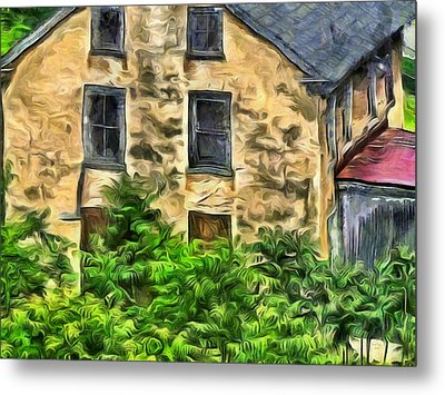 Metal Print featuring the mixed media Niccolo by Trish Tritz