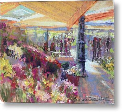 Nice Flower Market Metal Print by Jeanne Rosier Smith