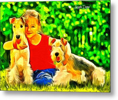 Nice Kids - Da Metal Print by Leonardo Digenio