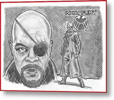 Nick Fury- Agent Of Shield Metal Print by Chris  DelVecchio