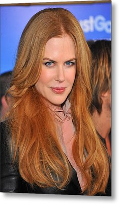 Nicole Kidman At Arrivals For Just Go Metal Print by Everett