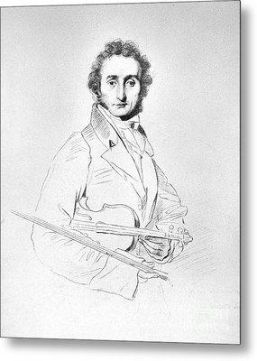 Nicolo Paganini (1782-1840) Metal Print by Granger