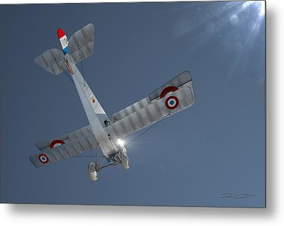 Nieuport 17 In The Blue Sky Metal Print by David Collins