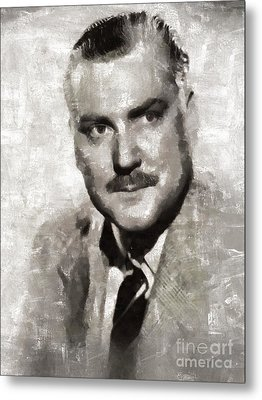 Nigel Bruce, Vintage Actor Metal Print