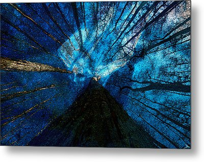 Metal Print featuring the painting Night Angel by David Lee Thompson