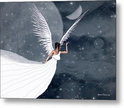Night Angel Metal Print by Rosalie Scanlon