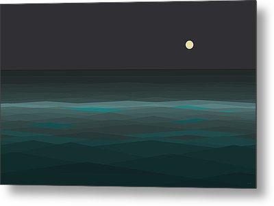 Night At Sea Metal Print by Val Arie