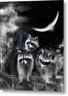 Night Bandits Metal Print by Carol Cavalaris