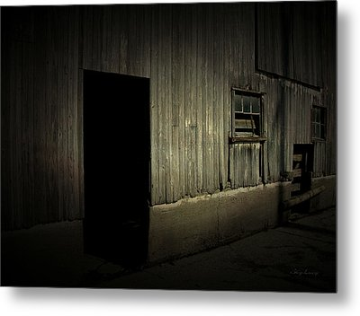 Metal Print featuring the photograph Night Barn by Cynthia Lassiter