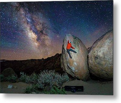 Night Bouldering Metal Print by Evgeny Vasenev