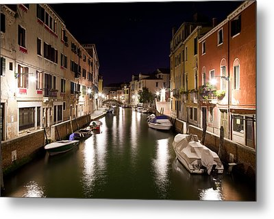 Night Canal Metal Print by Marco Missiaja