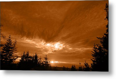 Night Clouds II Metal Print