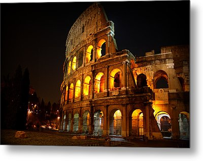 Night Colosseum Metal Print by Kevin Flynn