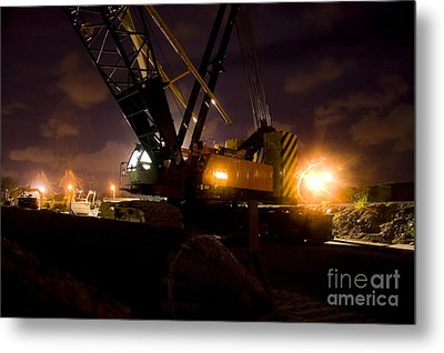 Night Crane Metal Print by Jorgo Photography - Wall Art Gallery