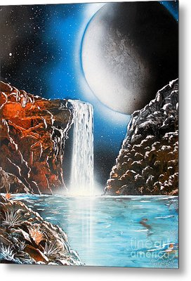 Metal Print featuring the painting Night Falls 4679 by Greg Moores