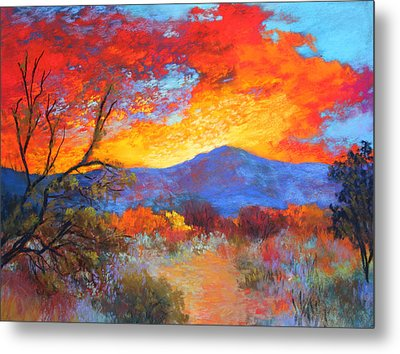 Metal Print featuring the painting Night Fever by M Diane Bonaparte
