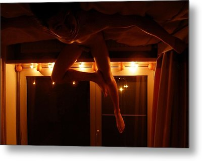 Metal Print featuring the photograph Night Flight by Votus